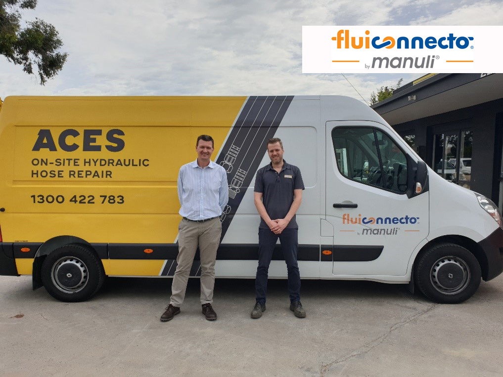 Left: Quentin Korff (General Manager - Australia & South East Asia – Fluiconnecto)  Right: Andrew Arbuckle (Manager – ACES Construction)
