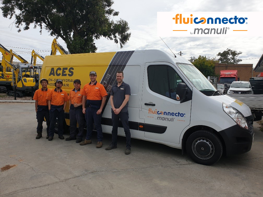 From the right – Andrew, Brenton (Service Manager) & the team